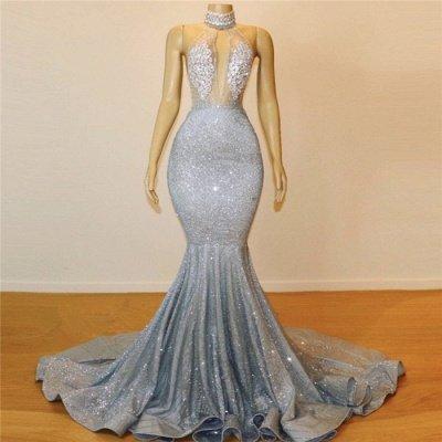 Mermaid Halter Sleeveless Floor-Length Prom Dress_7