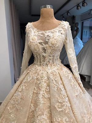 Exklusive Hochzeitskleider Spitze Langarm   Brautkleid A Linie Mit Spitze_4