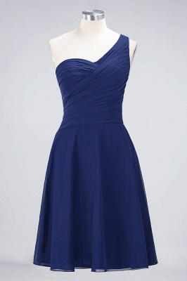 Chiffon A-Line One-Shoulder Sweetheart Sleeveless Short Bridesmaid Dress with Ruffles_25