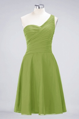 Chiffon A-Line One-Shoulder Sweetheart Sleeveless Short Bridesmaid Dress with Ruffles_32