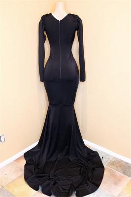 Элегантные платья с V-образным вырезом и длинными рукавами_3