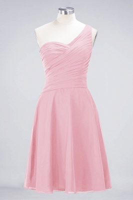 Chiffon A-Line One-Shoulder Sweetheart Sleeveless Short Bridesmaid Dress with Ruffles_4