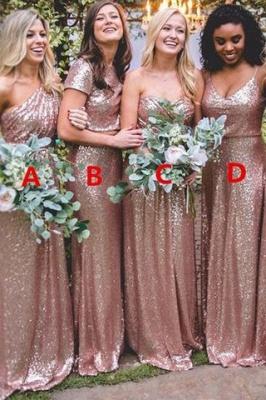 Wunderschönes Rosa Goldes Brautjungfernkleid   Jewel Brautjungfer Kleid Mit Ärmer Günstig_5