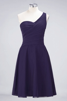 Chiffon A-Line One-Shoulder Sweetheart Sleeveless Short Bridesmaid Dress with Ruffles_18