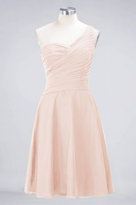 Chiffon A-Line One-Shoulder Sweetheart Sleeveless Short Bridesmaid Dress with Ruffles_5