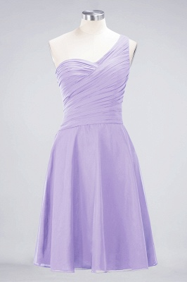Chiffon A-Line One-Shoulder Sweetheart Sleeveless Short Bridesmaid Dress with Ruffles_20
