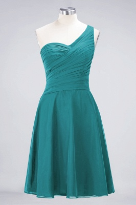 Chiffon A-Line One-Shoulder Sweetheart Sleeveless Short Bridesmaid Dress with Ruffles_31