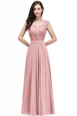 CORINNE | A-Linie bodenlange Spitze Burgund elegantes Abendkleid_1