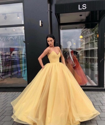 Robe de bal élégante sans bretelles sweetheart rez-de-longueur robe de bal_2