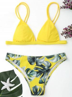 Women Triangle Floral Print Bikini Set_15