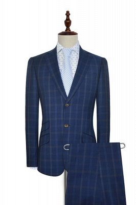 Dark Blue Wool Shawl Collar Wedding Suit For Groom | New Arriving Single Breasted Tailor Made Men Suit