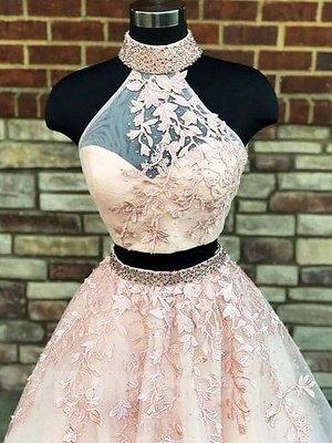 Elegante Abendkleider Lang Weiße | 2 Teillige Abiballkleider Online_3