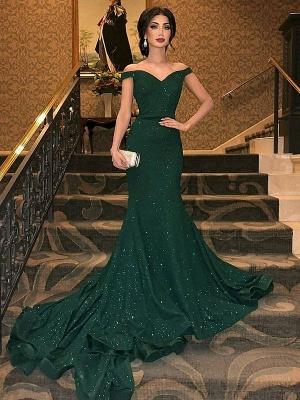 Grünes Abendkleid | Abendkleider Lang Mit Glitzer_2