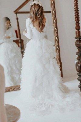Elegant Applique Wedding Dresses | Side slit Mermaid Sleeveless Floral Bridal Gowns_5