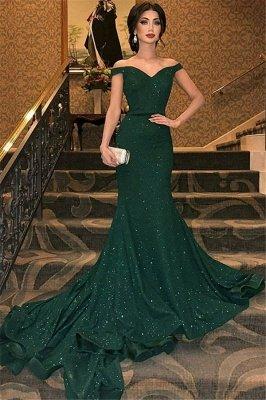 Grünes Abendkleid | Abendkleider Lang Mit Glitzer_1