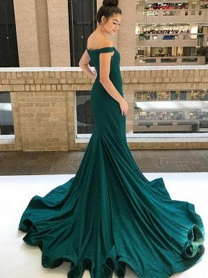Grünes Abendkleid | Abendkleider Lang Mit Glitzer_3