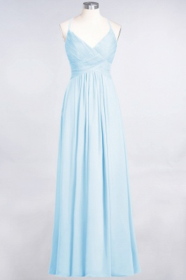 Chiffon A-Line Spaghetti-Straps V-Neck Sleeveless Long Bridesmaid Dress with Ruffles_22