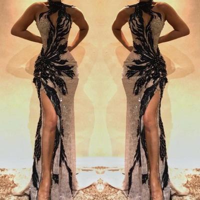 Sexy encaje rebordear sirena vestidos de baile_2
