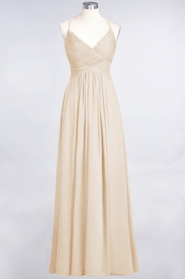 Chiffon A-Line Spaghetti-Straps V-Neck Sleeveless Long Bridesmaid Dress with Ruffles_14