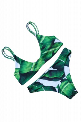 Spaghetti Straps Printed Patterns Bikini Sets_4