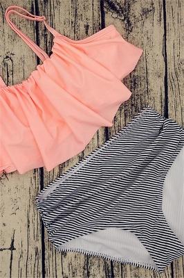 Vintage Two-piece Spaghetti Straps Beachwear Suits_6