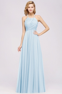 A-Line Chiffon Halter Ruffles Floor-Length Bridesmaid Dress_22