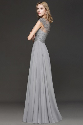 Elegante Brautjungfernkleider Lang Grau | Brautjungfer Kleid Mit Applikationnen Und Tüll_3