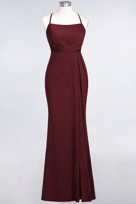 Spandex Lace Mermaid Spaghetti-Straps Sleeveless Long Bridesmaid Dress with Ruffle_9