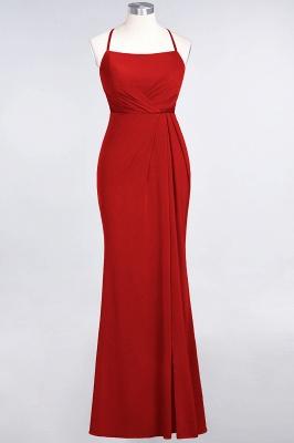 Spandex Lace Mermaid Spaghetti-Straps Sleeveless Long Bridesmaid Dress with Ruffle_7