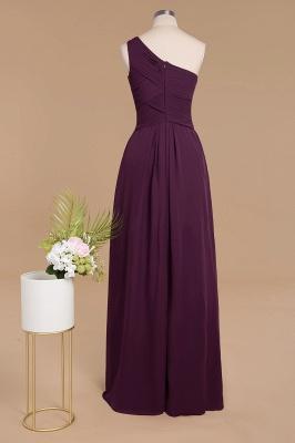 Schlichte Brautjungfernkleider Eine Schulter | Weinrot Brautjungfer Kleid Günstig Kaufen_2
