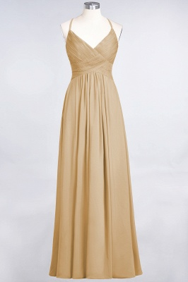 Chiffon A-Line Spaghetti-Straps V-Neck Sleeveless Long Bridesmaid Dress with Ruffles_13