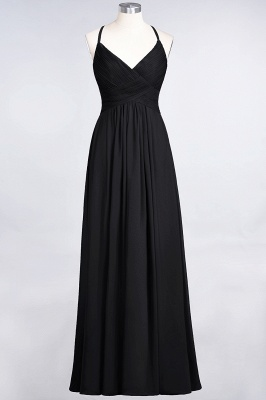 Chiffon A-Line Spaghetti-Straps V-Neck Sleeveless Long Bridesmaid Dress with Ruffles_28