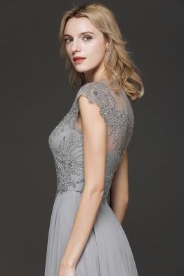 Elegante Brautjungfernkleider Lang Grau | Brautjungfer Kleid Mit Applikationnen Und Tüll_6
