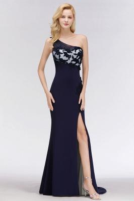 Schöne  Brautjungfernkleider Eine Schulter | Brautjungfer Kleid Weiß Und Schwarz Online Kaufen_5