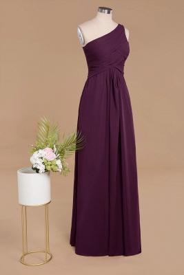 Schlichte Brautjungfernkleider Eine Schulter | Weinrot Brautjungfer Kleid Günstig Kaufen_3