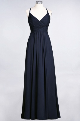 Chiffon A-Line Spaghetti-Straps V-Neck Sleeveless Long Bridesmaid Dress with Ruffles_27