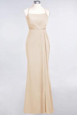 Spandex Lace Mermaid Spaghetti-Straps Sleeveless Long Bridesmaid Dress with Ruffle_13