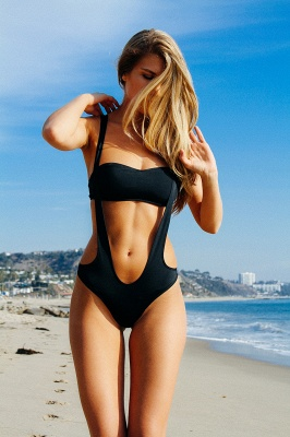 Sling Straps One-piece Cut Out Swimwears