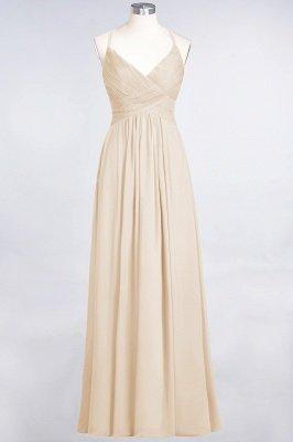 Chiffon A-Line Spaghetti-Straps V-Neck Sleeveless Long Bridesmaid Dress with Ruffles_14