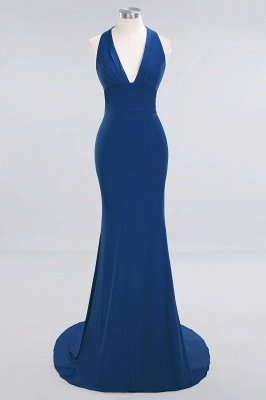 Elegant Mermaid Halter Pool Bridesmaid Dress Online_23