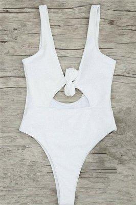 Schlichte einteilige Badebekleidung | Himmelblau Bikini Online_10