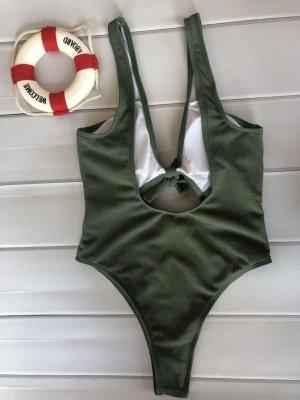 Schlichte einteilige Badebekleidung | Himmelblau Bikini Online_15