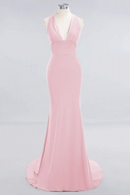 Elegant Mermaid Halter Pool Bridesmaid Dress Online_4