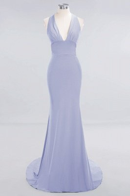 Elegant Mermaid Halter Pool Bridesmaid Dress Online_19
