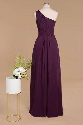 Элегантные платья для выпускного с оборками на одно плечо | A-Line Вечерние платья без рукавов_2