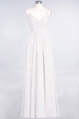 Chiffon A-Line Spaghetti-Straps V-Neck Sleeveless Long Bridesmaid Dress with Ruffles_1