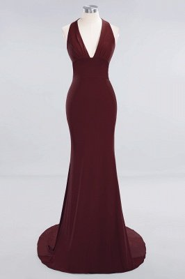 Elegant Mermaid Halter Pool Bridesmaid Dress Online_9