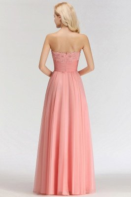 Sexy Sweetheart A-Line Appliques Long Bridesmaid Dresses Online_2