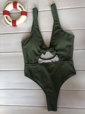 Schlichte einteilige Badebekleidung | Himmelblau Bikini Online_6