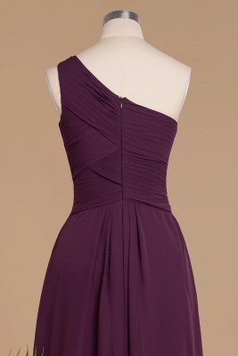 Элегантные платья для выпускного с оборками на одно плечо | A-Line Вечерние платья без рукавов_6